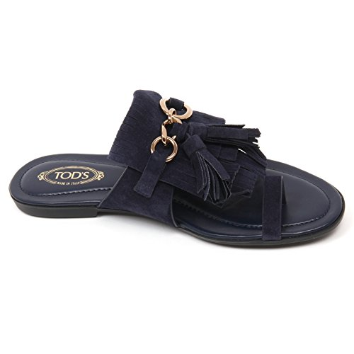 Donna Blu C9102 Scarpa Shoe Infradito Frangia Sandalo Woman Tod's 5XqOX