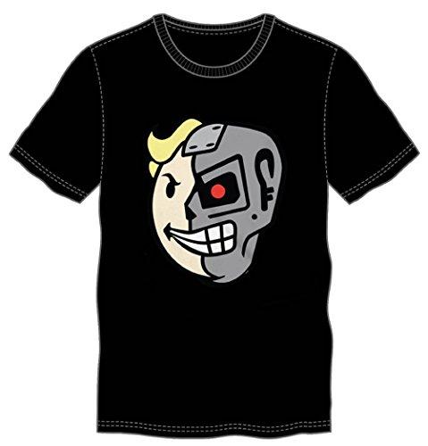 Fallout Half Face Mens Black T-shirt (Medium)