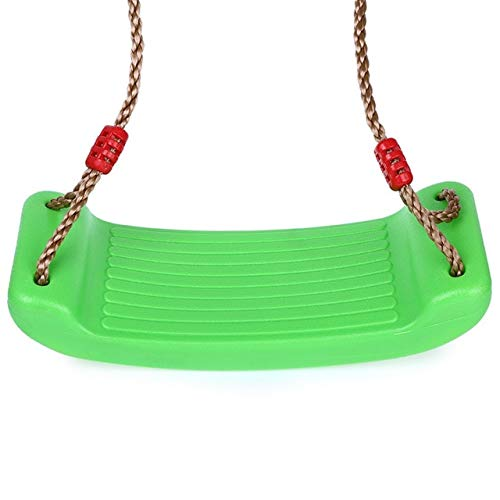 Lady Lake tk - Child Outdoor Patio Swings Belt Seat Toys Environmental Plastic Garden Tree Swing Rope Seat Molded for Kids Hanging Playground Green (Garden Seats Swing)