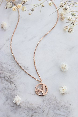 - Gold Monogram Necklace, Custom Initial Gold Pendant, 9K, 14K, 18K Gold Necklace, Rose Gold, Gift For Her, Solid Gold Monogram Charm /code: 0.003