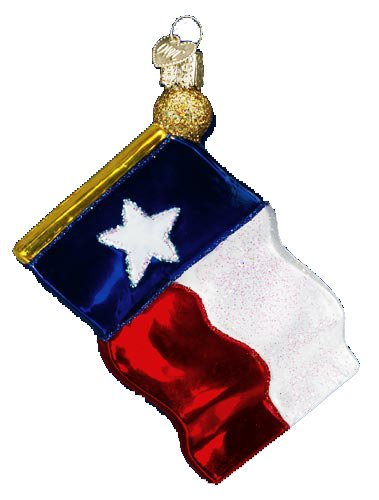 Old World Christmas Texas State Flag Glass Blown Ornament (Christmas Ornaments Texas)