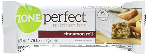 ZonePerfect Nutrition Snack Bars, High Protein Energy Bars, Cinnamon Roll, 1.76 oz ,12 Count