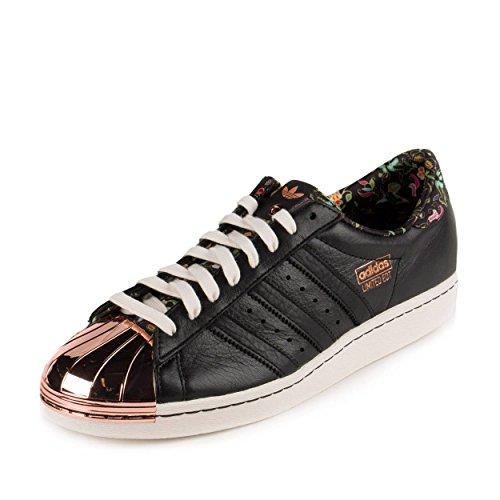 adidas Mens Superstar 80v - L.E. Limited Edition Copper Toe Black/White-Copper Leather Size 9
