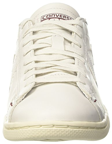 Sneaker White Dust Bianco Basso Ox Uomo White PRO Lp Maroon a Leather Snow Converse Collo wxI1q6HKP