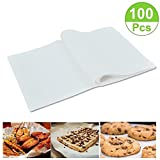 (100 Sheets) Non-Stick square Parchment Paper Baking Sheets Baking Paper Liners (8*12 inches)