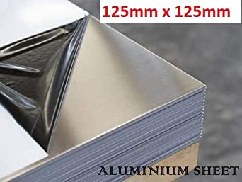Various sizes aluminium sheet 3mm 125mm x 125mm x 3mm poly coated protection to both faces