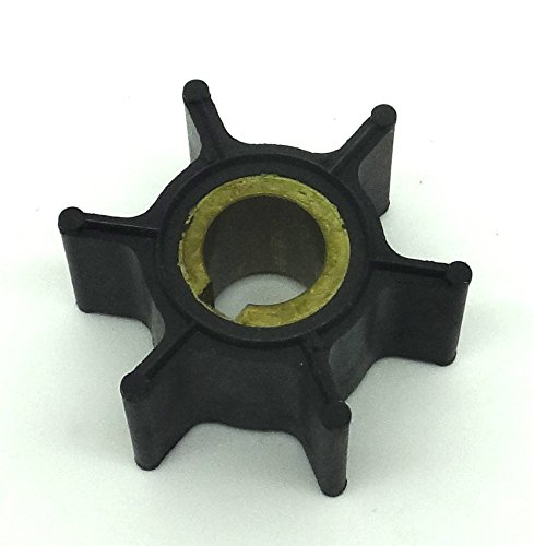 (Boat Engine Water Pump Impeller 389576 0389576 18-3091 for Johnson Evinrude OMC BRP 4HP 4.5HP 5HP 6HP 8HP 2-Stroke Outboard Motor)