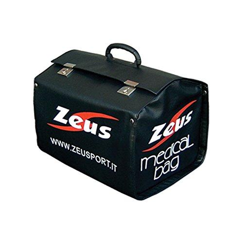 Zeus Arzttasche für den Fußball Kunstleder Handtasche Fußball Schwarz MEDICAL BAG PRO 29x29x38 cm