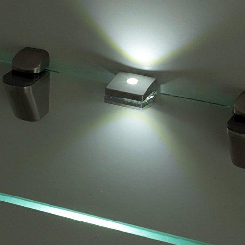 LED ZETA 3S CLIPS Glaskantenbeleuchtung Glasbodenbeleuchtung Glasbeleuchtung Vitrinen Warmweiss 0.60W 230V 12V