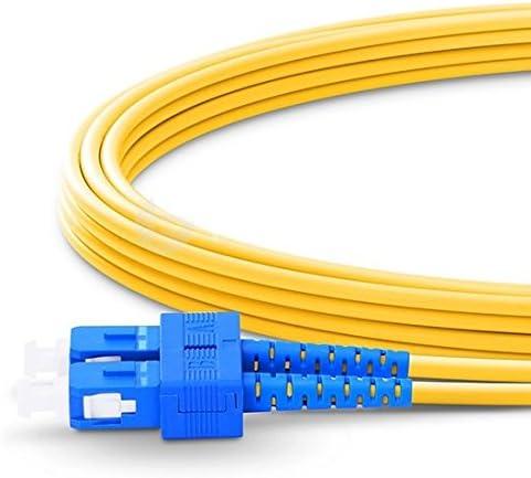 100m Fiber Optic Cable LC//APC to SC Singlemode Duplex OS2 9//125mm Fiber Optic Patch Cord Length Options 0.5M-200M