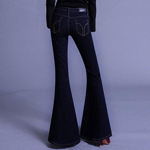 Larghi Size Pantalone Con Molto Pesce Sottile 29 Taglio Bocca Femminile Europeo Jeans Elasticità wTpAqTg0n