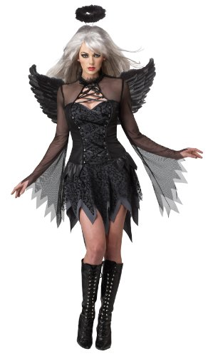Womens Fallen Angel Costumes (California Costumes Women's Eye Candy - Fallen Angel Adult, Black, X-Small)
