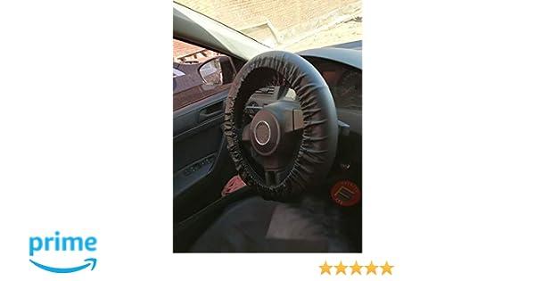 Cubierta del volante del autom/óvil Protecci/ón Trenza en la manija Juego de felpa Protector de esponja azul
