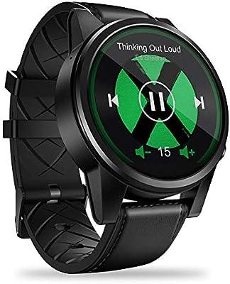 Multifuncional Reloj inteligente, Zeblaze THOR4 PRO Recordatorio de llamada Bluetooth Pantalla de cristal GPS Correas de cuero híbrido reloj inteligente ...