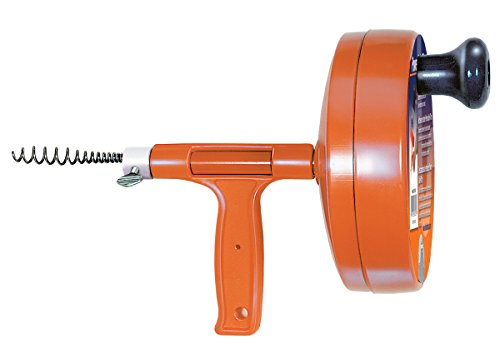 General Pipe Cleaners R-25SM Spin Thru Drain Auger with 1/4-Inch by 25-Feet Cable (Snake Drain Drill Attachment)