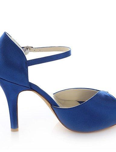 ZQ Zapatos de boda-Sandalias-Tacones / Plataforma-Boda / Vestido / Fiesta y Noche-Negro / Azul / Morado / Rojo-Mujer , 4in-4 3/4in-purple: Amazon.es: ...