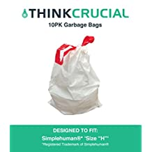 10PK Durable Garbage Bags Fit Simple Human H, 30-35L / 8-9 Gallon