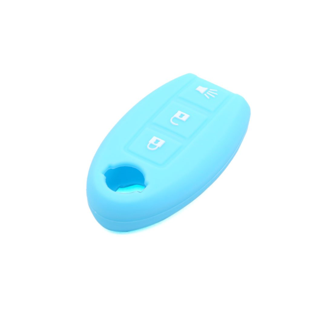 uxcell Blue Silicone Three Button Car Remote Key Cover Case Protective for Nissan Sylphy Sunny March Qashqai Teana XTRAIL Murao a18010800ux0044