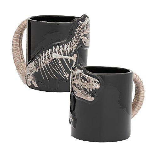 (Vandor 56119 Dino Skeleton 20 oz. Sculpted Ceramic Mug, Black)