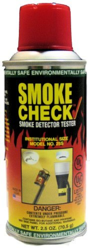 - Home Safeguard 25S 2.5-Oz. Smoke Detector Tester Spray 12 Per Package by HSI Fire and Safety Group
