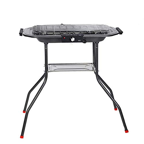 LBSX BBQ Barbecue Grill Home Smokeless Electric Grill Stainless Steel Electric Charcoal Dual-Purpose Multi-Purpose Grill