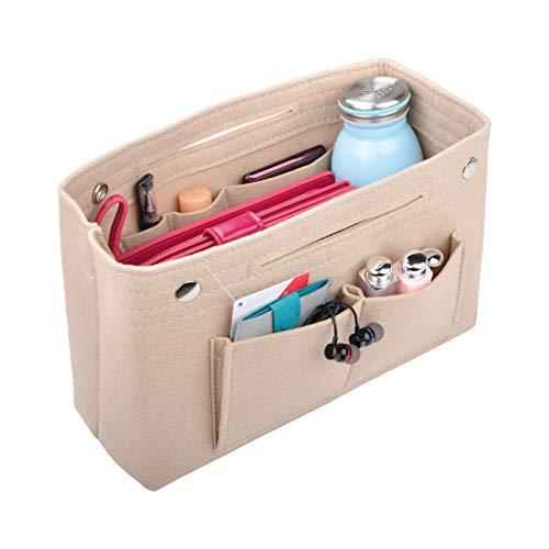 - Vercord Felt Purse Tote Organizer Insert Divider Inside Handbag for Women Medium Beige