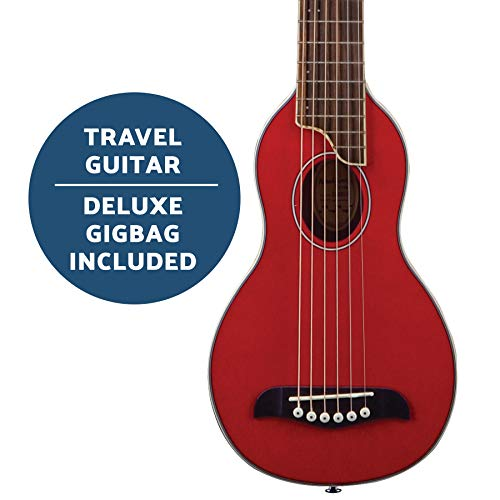 Washburn Rover 6 String Acoustic Guitar Right, Trans Red Full RO10STRK-A