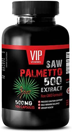 natural prostate support pills - SAW PALMETTO 500 EXTRACT - saw palmetto for women - 1 Bottle 100 Capsules