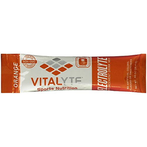 Vitalyte Electrolyte Powder Sports Drink Mix, 25 Single Serving Packets, Natural Electrolyte Replacement Supplement for Rapid Hydration & Energy - Orange (Best Isotonic Drink Powder)