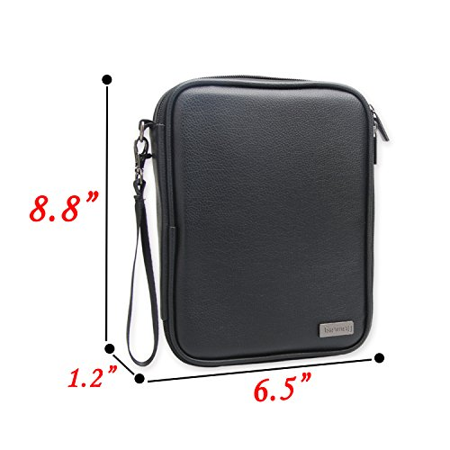 Teamoy Electronic Organizer, Travel Gadget Bag for Cables, USB Flash Drive, CF Card, Earphone, Plug, iPad mini and More, High Capacity and Compact-PU Leather