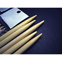 11 Sizes 5 Inch Double Pointed (BR brand) Bamboo Knitting Needles (5 Needles Per Size, 55 Needles in Total)