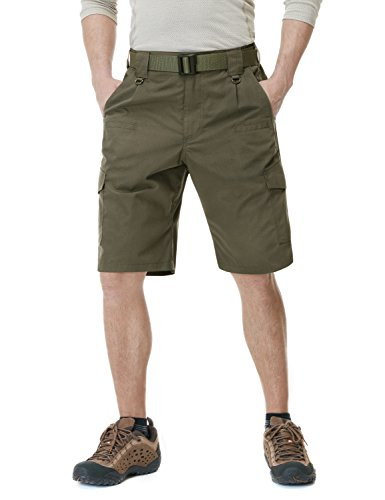 CQR Men's Tactical Lightweight Utiliy EDC Cargo Work Uniform Shorts, Tactical Shorts(tsp202) - Tundra, - Tactical Mens Uniform