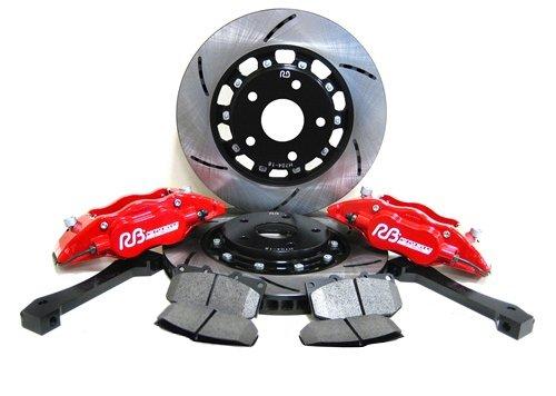 RacingBrake Front & Rear 4/2 POT Two Piece Big Brake Upgrade Kit for Nissan 350Z Z33 02-08, Infiniti G35 02-07 NON SPORT