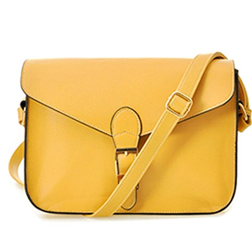 Tote Bag - All4you Lady Designer Satchel Sacs bandoulière Messager sac à main sac à main en Style(Yellow) BCBG