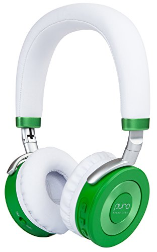 Puro Sound Labs JuniorJams, Premium Wireless Volume Limited Kids Headphones with Bluetooth Connectivity, Daisy Chain Sharing and 22-Hours of Battery Life (Green)