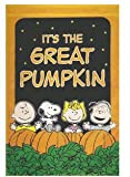 "IT'S THE GREAT PUMPKIN Charlie Brown FLAG Snoopy Peanuts Standard 25"" X 38"""