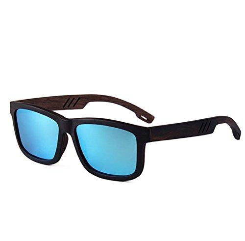 Madera QQB Film True Polarizer Blue Sol De De De Hechas A Gama Brown Square Alta Gafas Huecas Mano Gafas xqqp4SwCI