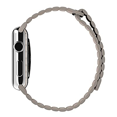 Apple 42MM Large Leather Loop for Apple Watch - Stone