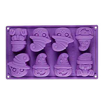 Happy Halloween Silicone Cake Mold Pumpkin Kitchen Bake Tools Chocolate Cake Mould Fondant Baking Tools Sugar