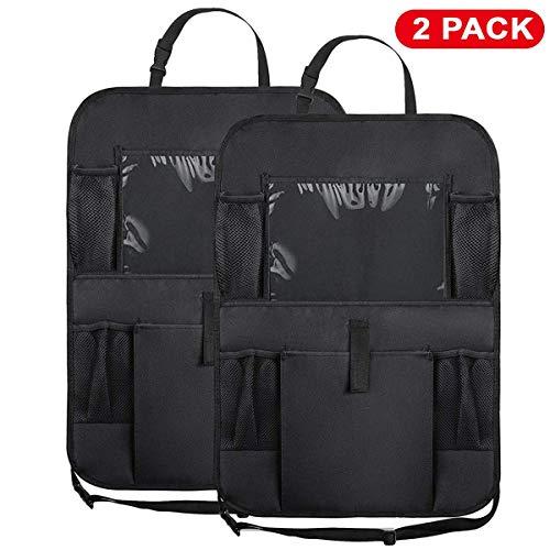 WildAuto Car Back Seat Organizer,Multi-Pocket Storage for Toy/Bottles/Umbrella/10 iPad,Washable Multi Purpose Kick Mats Car Seat Back Protector