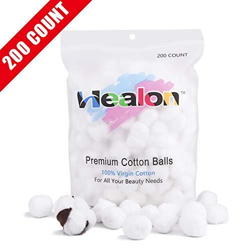 (Healon Cotton Balls 100% Pure Cotton 200pcs)