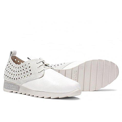 Hispanitas Lace Up Trainer Shoe - 87014 Bali White