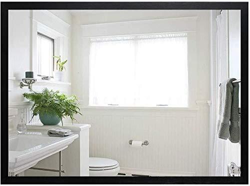 JIANGLI Bathroom Mirror, Wall-Mounted Framed Rectangular Bathroom Mirror Bathroom Bedroom Decorative Mirror -