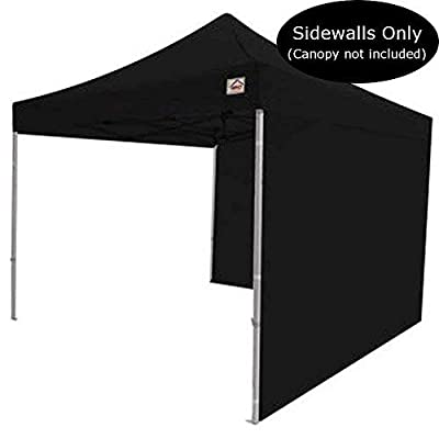 Impact Canopy 10-Foot Canopy Tent Wall Set, 1 Solid Sidewall and 1 Middle Zipper Sidewall Only, Black: Garden & Outdoor