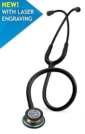 Fonendoscopio 3M™ Littmann® Classic III™ con grabado láser gratuito - Negro Arco iris 5870