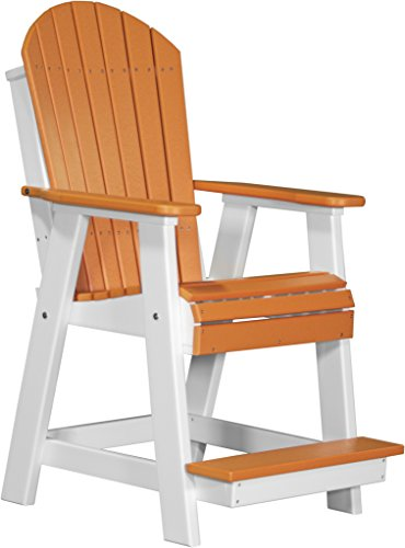 Cheap Furniture Barn USA Poly Adirondack Balcony Chair – Tangerine and White