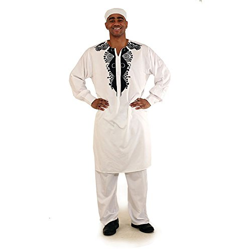 utopia africa Embroidered Gran Boubou - White by utopia africa