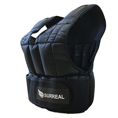 Surreal verstellbare Gewichtsweste erhältlich mit 5/10/15/20/30 kg an Gewichte, zum Gewichtsverlust / Fitnesstraining, 5 kg