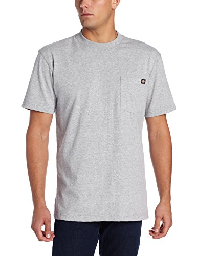 (Dickie's Men's Short Sleeve Heavyweight Crew Neck Pocket T-Shirt, Heather Gray, X-Large)