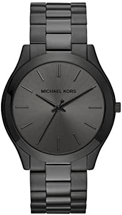 Michael Kors Men's Slim Runway Black Watch MK8507